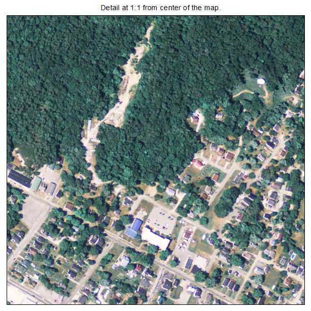 Irvine, Kentucky aerial imagery detail