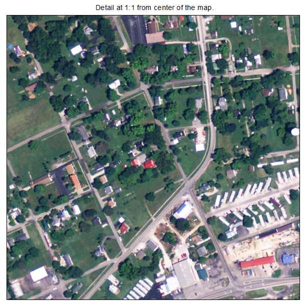 Irvington, Kentucky aerial imagery detail