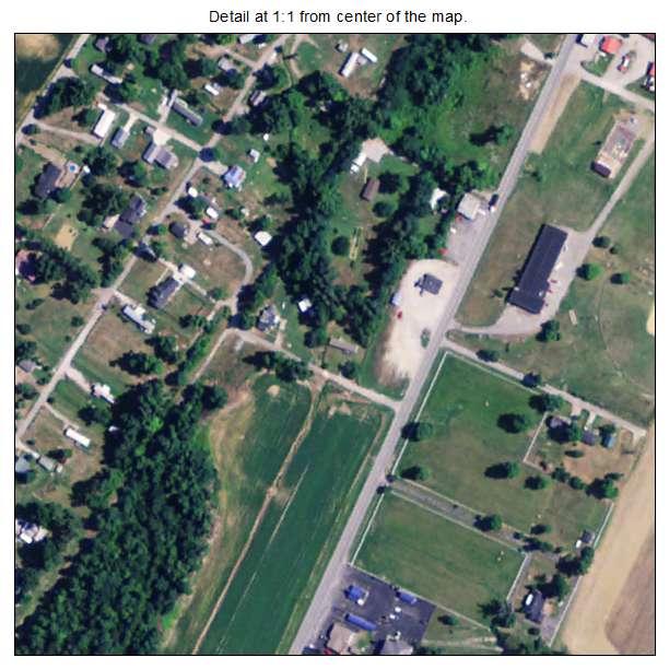 Island, Kentucky aerial imagery detail