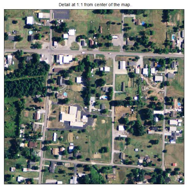 Nebo, Kentucky aerial imagery detail