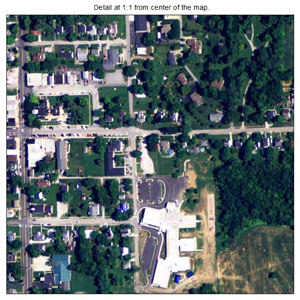 New Castle, Kentucky aerial imagery detail