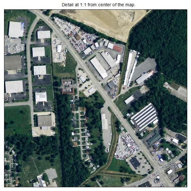 Newburg, Kentucky aerial imagery detail