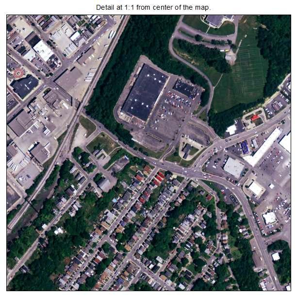 Newport, Kentucky aerial imagery detail