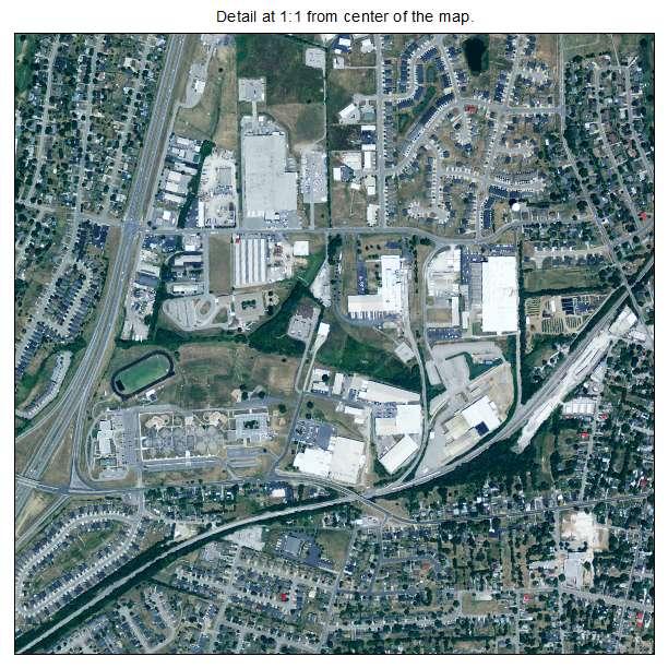 Nicholasville, Kentucky aerial imagery detail