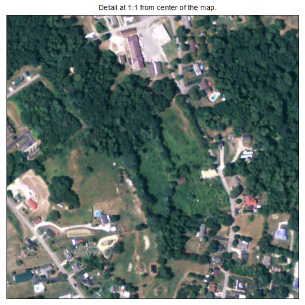 North Corbin, Kentucky aerial imagery detail