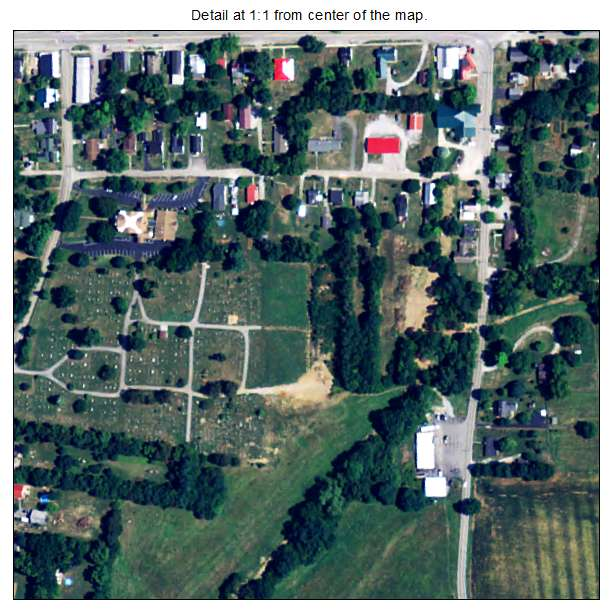 North Middletown, Kentucky aerial imagery detail