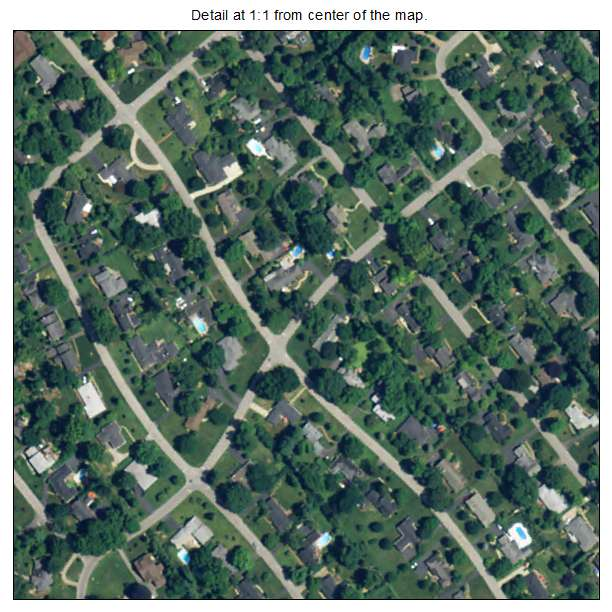 Northfield, Kentucky aerial imagery detail