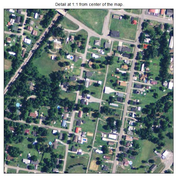 Nortonville, Kentucky aerial imagery detail