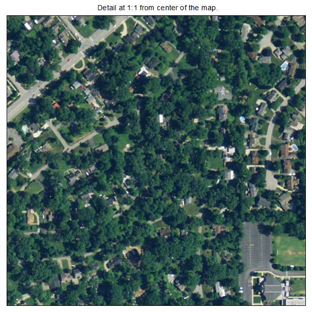 Norwood, Kentucky aerial imagery detail