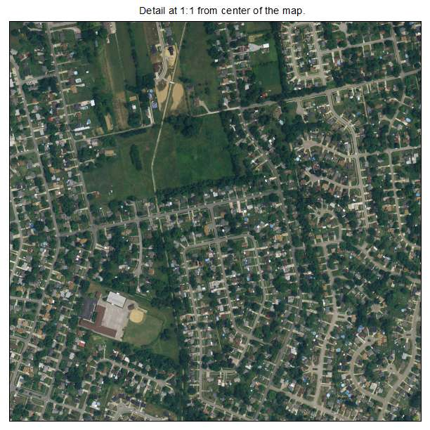 Valley Station, Kentucky aerial imagery detail
