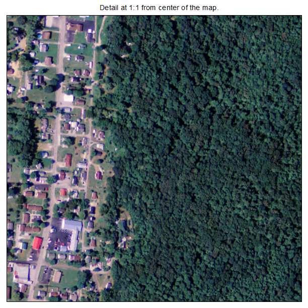 Vanceburg, Kentucky aerial imagery detail