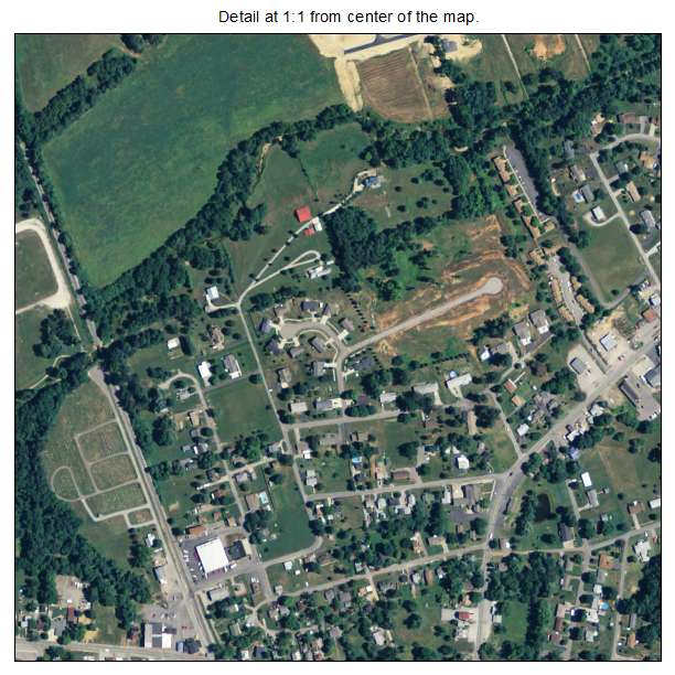 Vine Grove, Kentucky aerial imagery detail