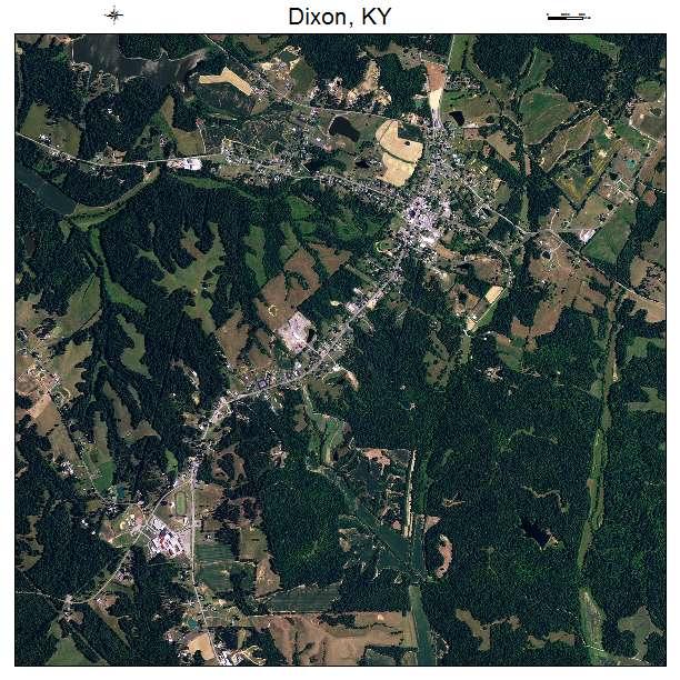 Dixon, KY air photo map