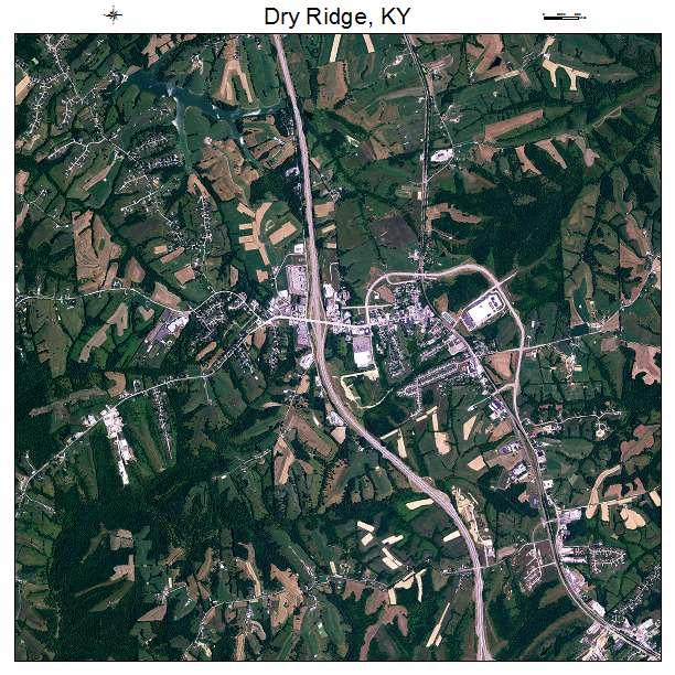 Dry Ridge, KY air photo map