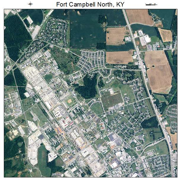 Aerial Photography Map of Fort Campbell North, KY Kentucky