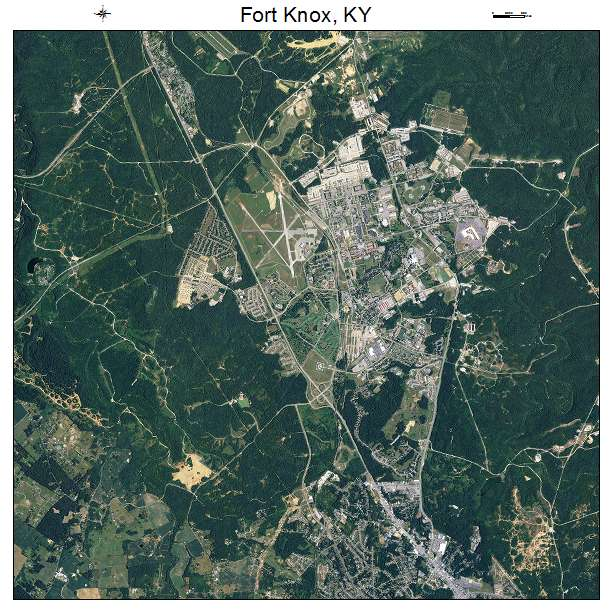 Fort Knox, KY air photo map