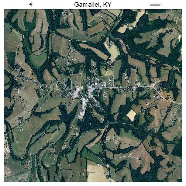 Gamaliel, KY air photo map