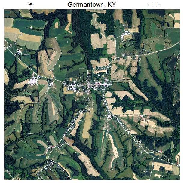 Germantown, KY air photo map