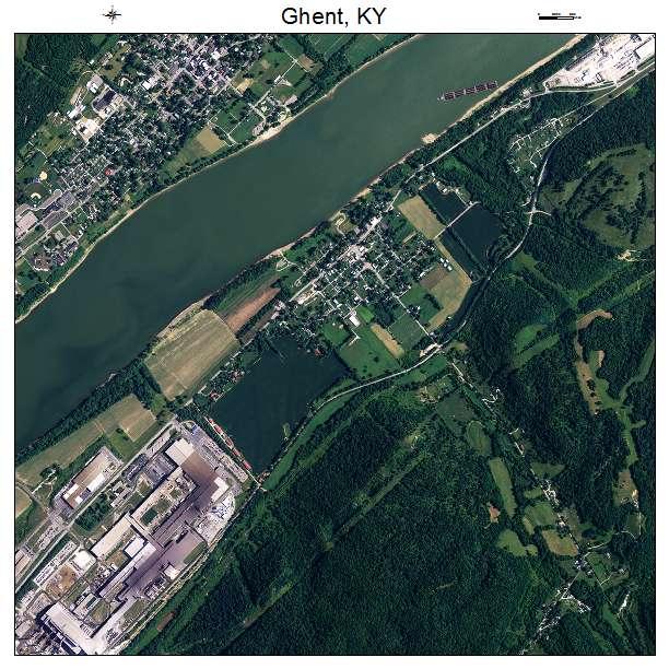 Ghent, KY air photo map