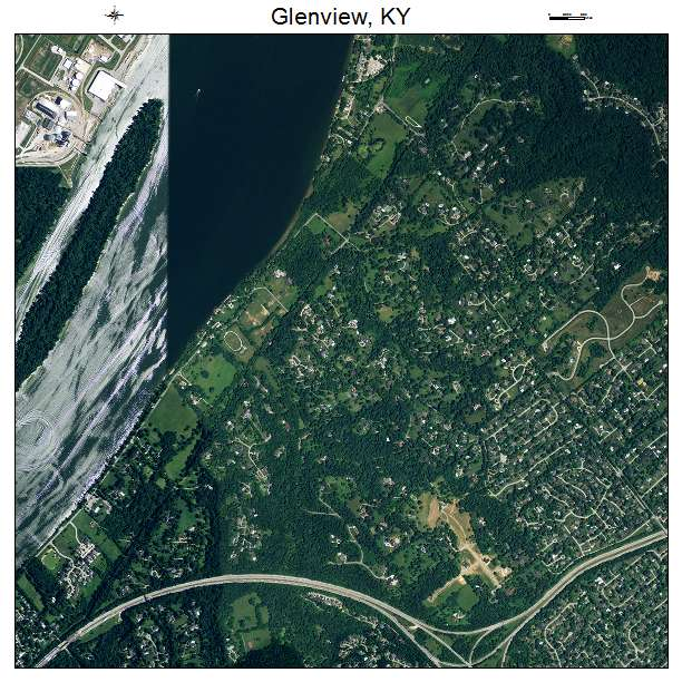 Glenview, KY air photo map