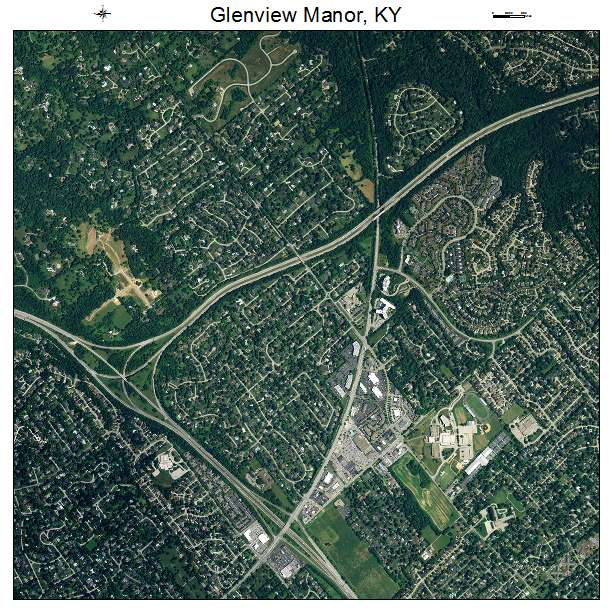 Glenview Manor, KY air photo map
