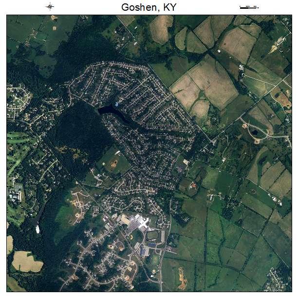 Goshen, KY air photo map