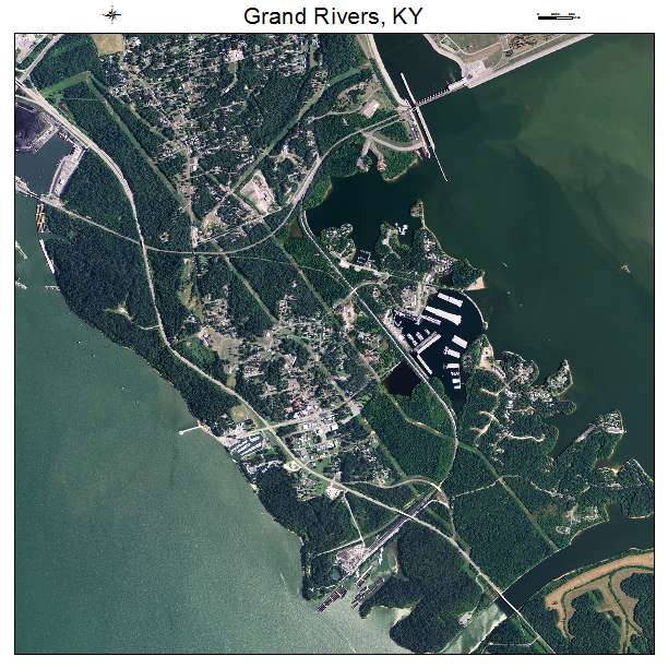 Grand Rivers, KY air photo map