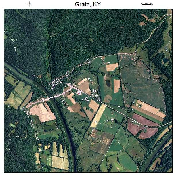 Gratz, KY air photo map