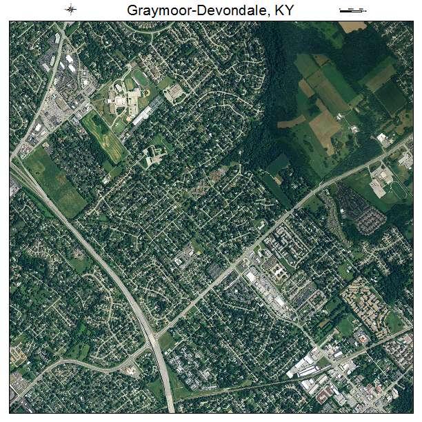 Graymoor Devondale, KY air photo map