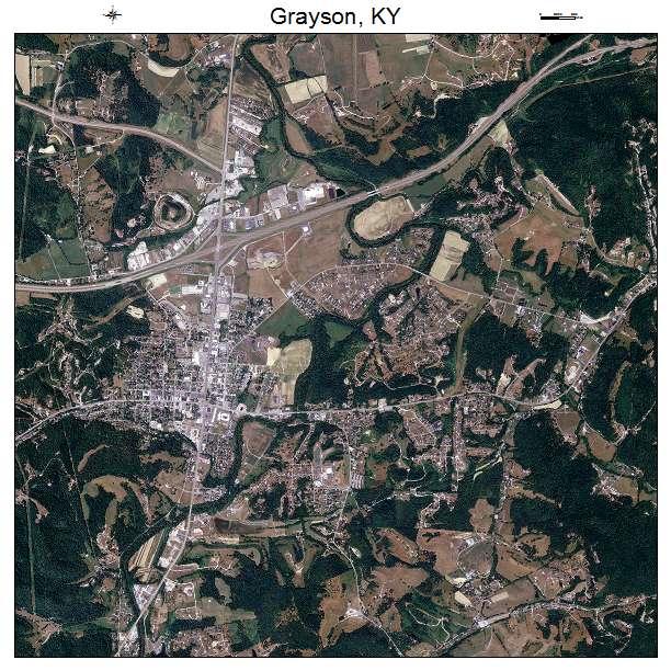 Grayson, KY air photo map