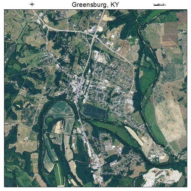 Greensburg, KY air photo map