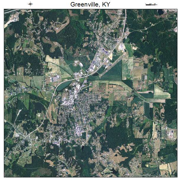Greenville, KY air photo map