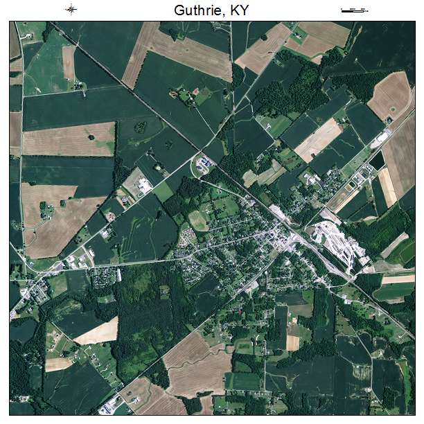 Guthrie, KY air photo map