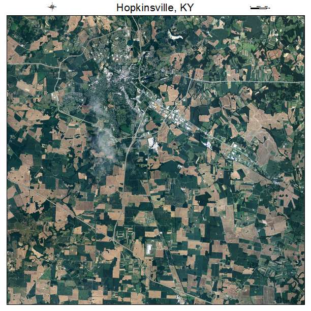 Hopkinsville, KY air photo map