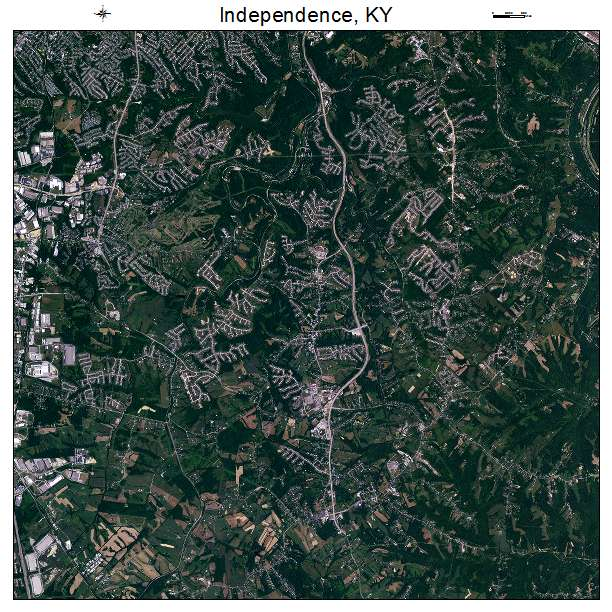 Independence, KY air photo map