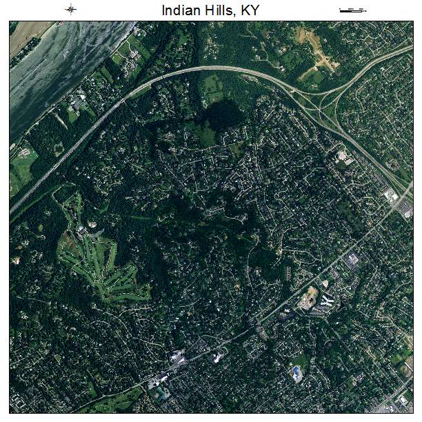 Indian Hills, KY air photo map