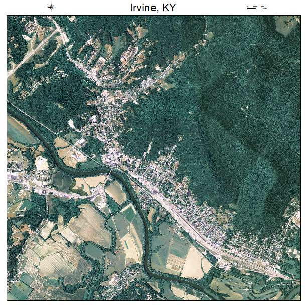 Irvine, KY air photo map