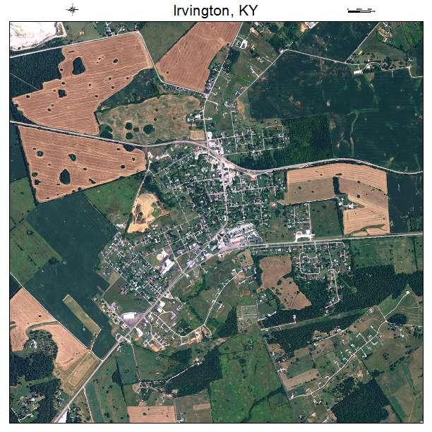 Irvington, KY air photo map