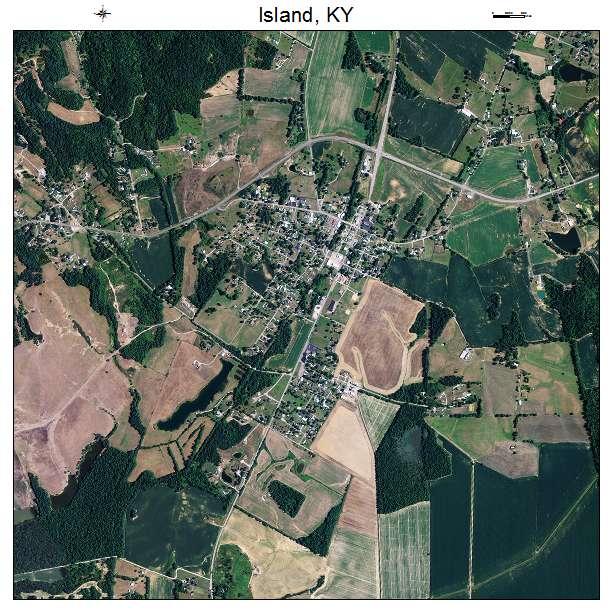 Island, KY air photo map
