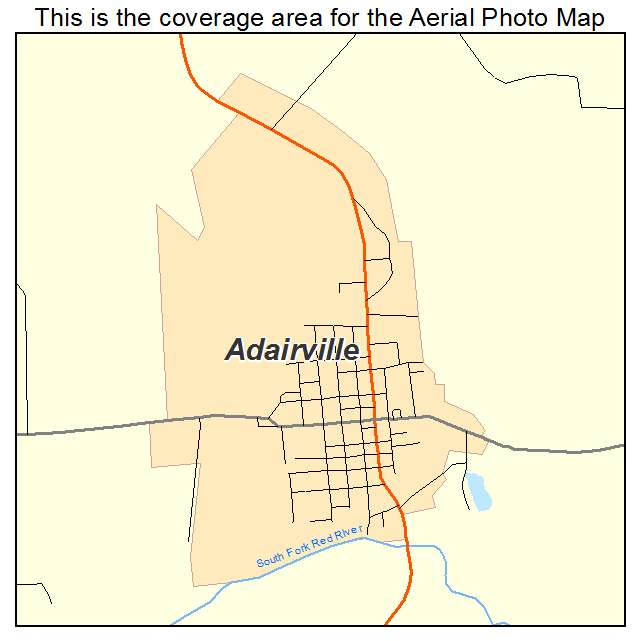 Adairville, KY location map