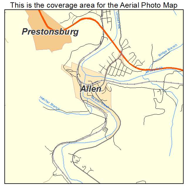 Allen, KY location map