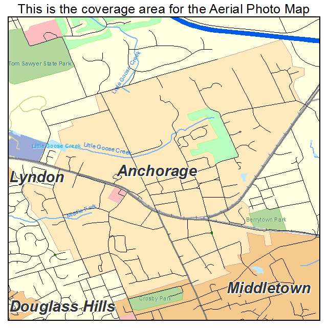 Anchorage, KY location map