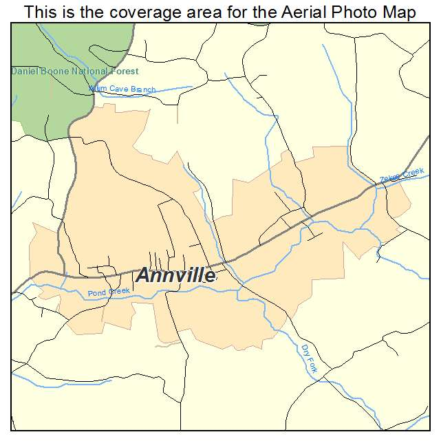 Annville, KY location map