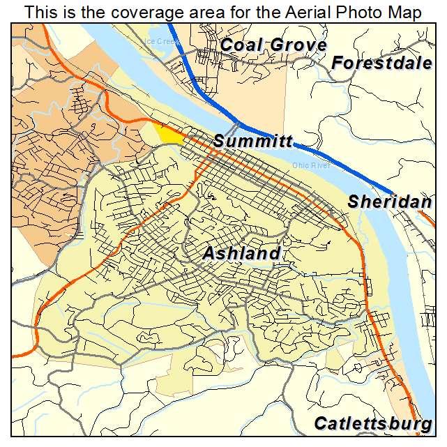 Ashland, KY location map