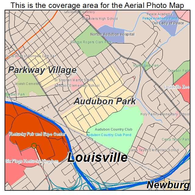 Audubon Park, KY location map