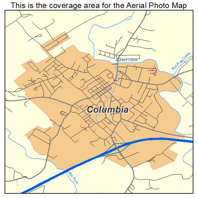 Aerial Photography Map Of Columbia KY Kentucky