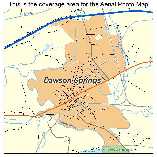 Dawson Springs, KY location map
