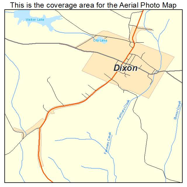 Dixon, KY location map