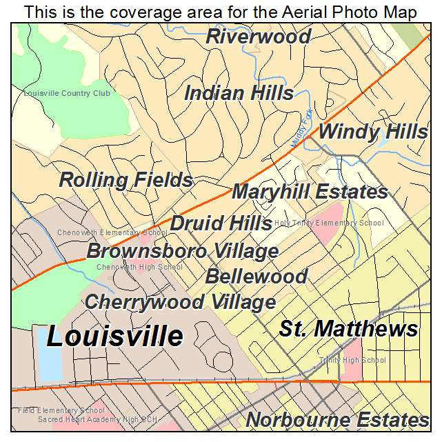 Druid Hills, KY location map