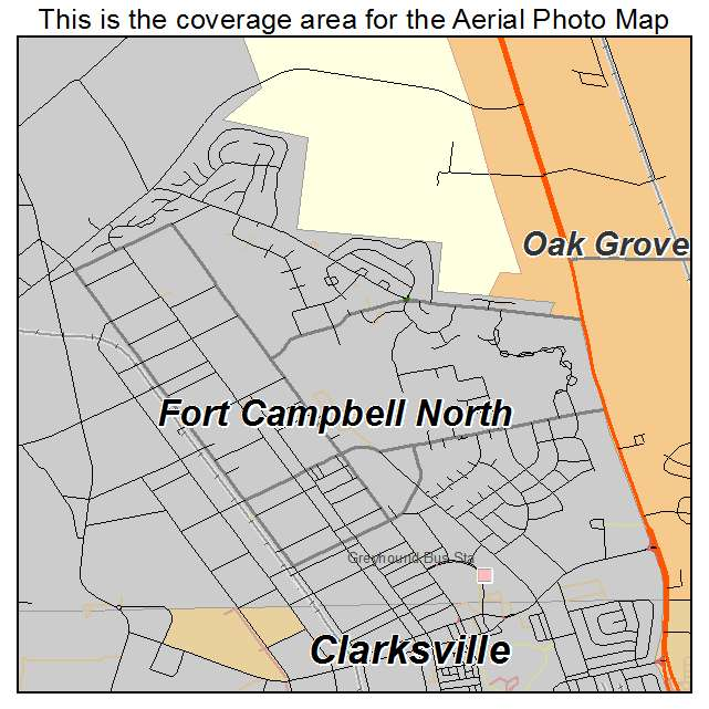Fort Campbell North, KY Kentucky Aerial Photography Map 2014